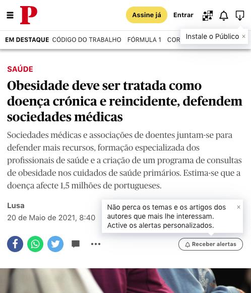 Obesidade deve ser tratada como doença crónica e reincidente, defendem sociedades médicas – Público Online